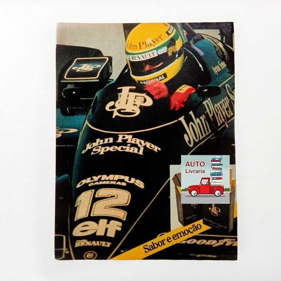 Lotus De Ayrton Senna - Fórmula 1 - Jps - Propaganda Antiga
