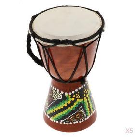 Magideal 5 Pieces Profissional Africano Djembes Tambor Bongo
