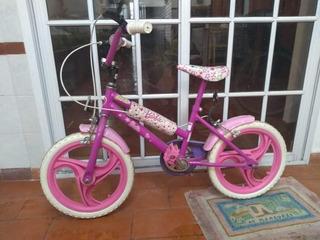 Bicicleta De Barbie - Rod. 16 - Excelente Estado