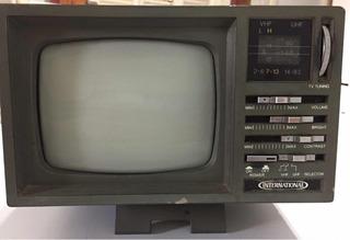 Televisor Portable Blanco Y Negro Con Radio