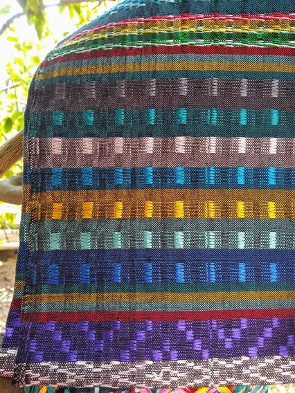 Lujoso Rebozo De Telar Multicolor De Seda