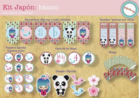 Kit Imprimible Japon