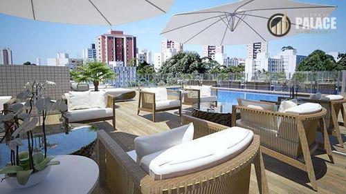 Apartamento Com 1 Dormitório À Venda, 62 M² Por R$ 263.000,00 - Caiçara - Praia Grande/sp - Ap1090