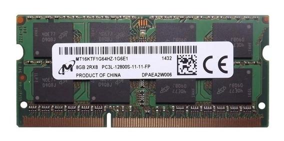 Memória Ddr3l 1600mhz 8gb Macbook Pro 15 Mid 2012 2.3ghz I7