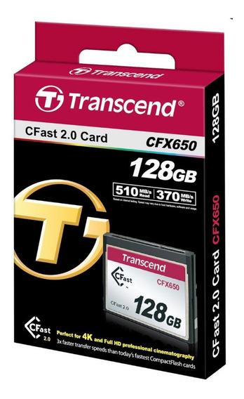 Cartão Cf Cfast 128gb Transcend Cfx650 510mbps 370mbps Nfe #