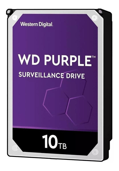 Disco rígido interno Western Digital WD Purple WD100PURZ 10TB roxo