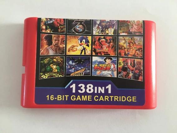 Cartucho Mega Drive Genesis 138 Em 1