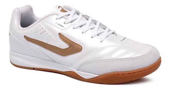 Tênis Futsal Topper Maestro Td2 4203615 Branco / Dourado