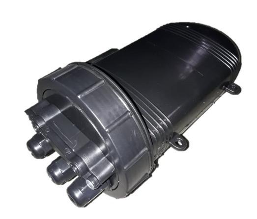 Caixa Ceo 12 Fo P/ Emenda Fibra Óptica (kit 3 Unid.)- Preta