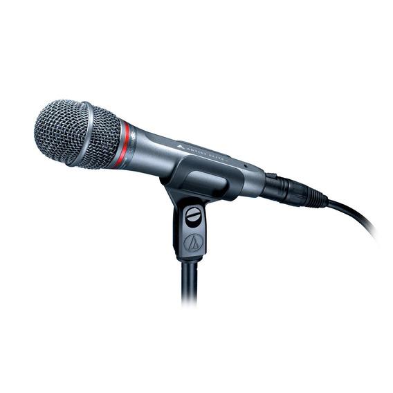 Ae6100 Microfone Dinâmico Audio Technica Para Vocalistas + Suporte Pedestal