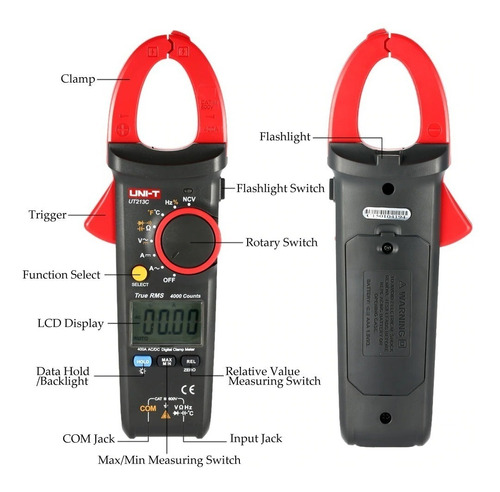 Pinza Amperimétrica Uni-t Ut213c