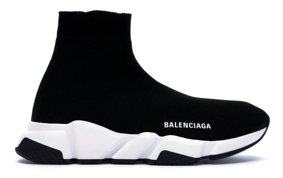 Tênis Balenciaga Speed Trainner Cano Alto Preto/branco
