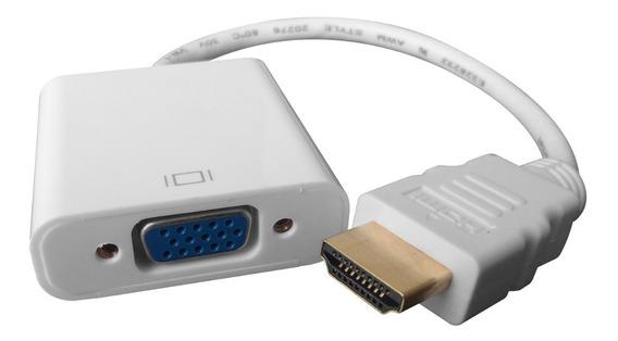 Cable Adaptador Hdmi A Vga Conversor Apto Notebook Pc Audio