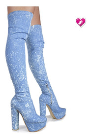 Bota Bucanera Jeans Elastizada Mod Dyabla 2 De Shoes Bayres