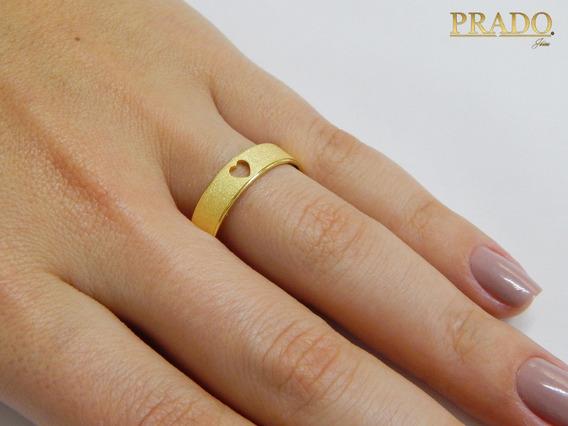 Par De Alianças Ouro 18k Diamantada Coração