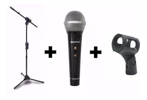 Kit Pedestal Smmax Ibox + Microfone Sm-100 + Cachimbo