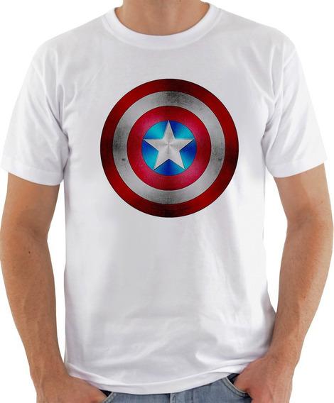 Camiseta Unissex - Escudo Capitão America 2018 -626