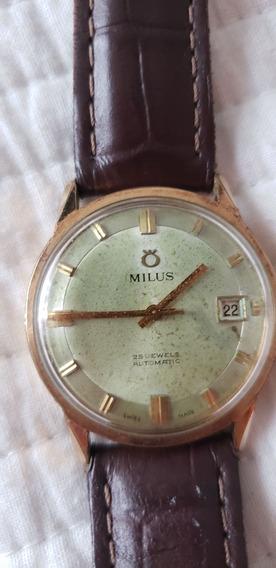 Relógio Suiço Milus 25 Rubis Automático - Raro
