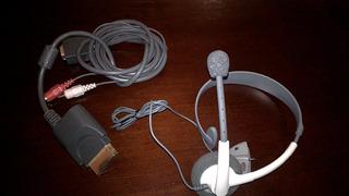 Auricular Original Para Xbox 360 Mas Cable Vga