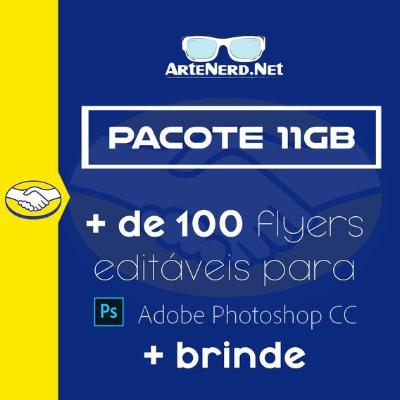 Pacote 11gb Flyer Psd De Photoshop Editável Festas E Bandas