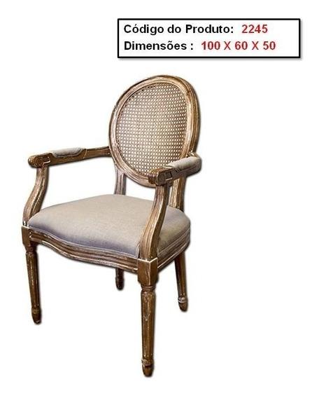 Cadeira Medalhão Luis Xv De Madeira C/assento Estofado