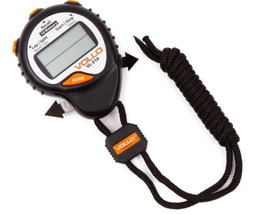 Cronômetro Digital Vollo 10 Memórias Progressivo Alarme Data