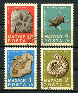 Selos Hungria Fauna Flora Pre-históricas Fósseis - L.2394