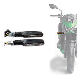Pisca Led Seta Esportivo Moto Preto Mod Slim Par