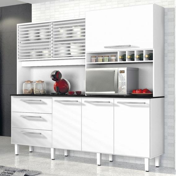 Armário De Cozinha 6 Portas 3 Gavetas Mega Siena Ja