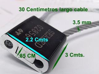 Sellos Alta Seguridad Cable Acero 3.5x300 Trailer 50 Piezas