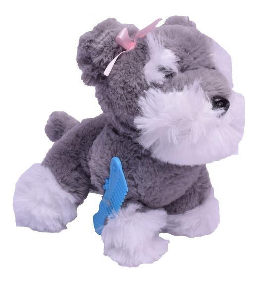 Peluche Mascota Perrito Con Cartera 21 Cm El Duende Azul