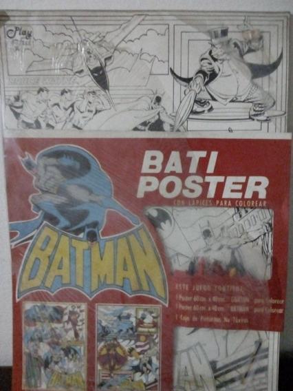 Batiposter Playful Batman Zona Retro Juguetería Vintage