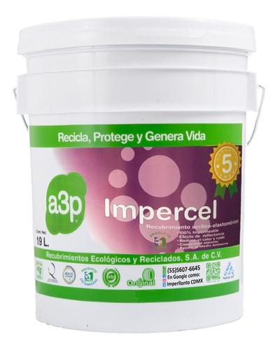 Recubrimiento Impermeable A3p Impercel Cubeta 19 Lts