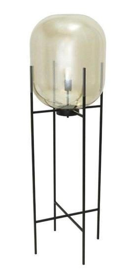 Abajur Estilo Industrial Com Vidro Metalizado - 147x47cm