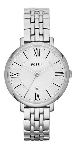 Relógio Fóssil Feminino Social Prateado Es3433/1kn