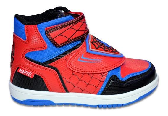 Zapatillas Botita Marvel Spiderman Niño Casual Skater