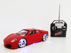 Carrinho De Controle Remoto Ferrari Com Luzes Promoção Led