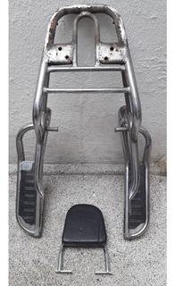 Parrilla Completa Usada Para Moto Tipo Gn Y Con Espaldar