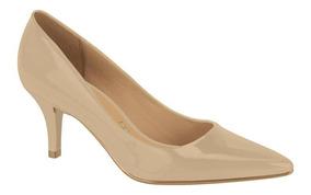 Sapato Feminino Vizzano Preto Scarpin Salto Baixo 1185102