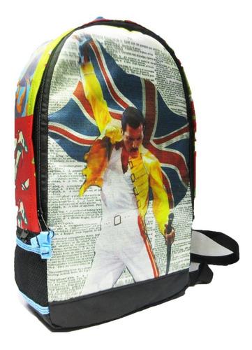 Imagen 1 de 6 de Mochila  Freddie Mercury , Queen, Inglaterra , Modelo Fre01