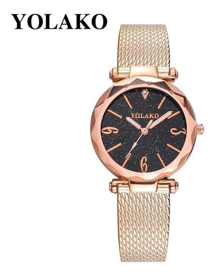 Relógio Yolako Céu Estrelado Diamante Geométrica