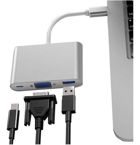 Cable Hub Usb C Macbook Vga Usb-c Usb 3.0 Alargue