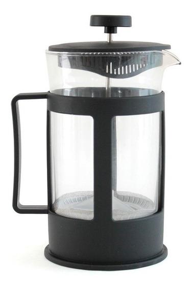 Cafetera Prensa Francesa Con Embolo 600ml Vidrio Plastico