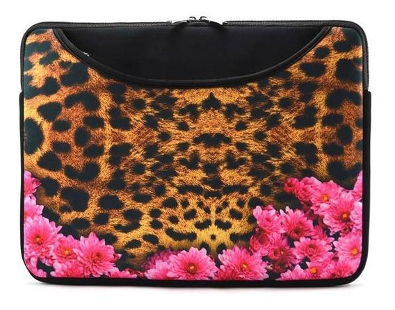 Case Para Notebook 15.6 Jaguar Floral, Com Bolso - Reliza