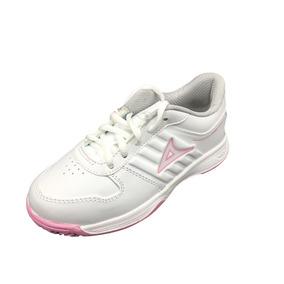 Tenis Pirma 7002 Para Niña Blanco Rosa