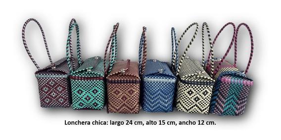 Bolsa Artesanal Chica Tejida De Plástico