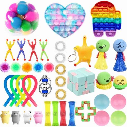 Kit De Brinquedos Sensorial Fidget Stress Relief 31 Pçs