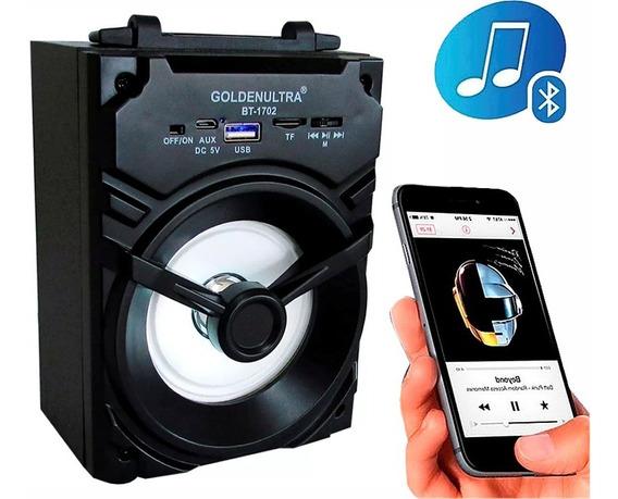 Caixa De Som Amplificada Bluetooth Usb Mp3 Radio Fm 1702