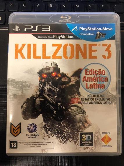 Jogo Ps3 Killzone 3 Mídia Física Completo Barato Envio Já!