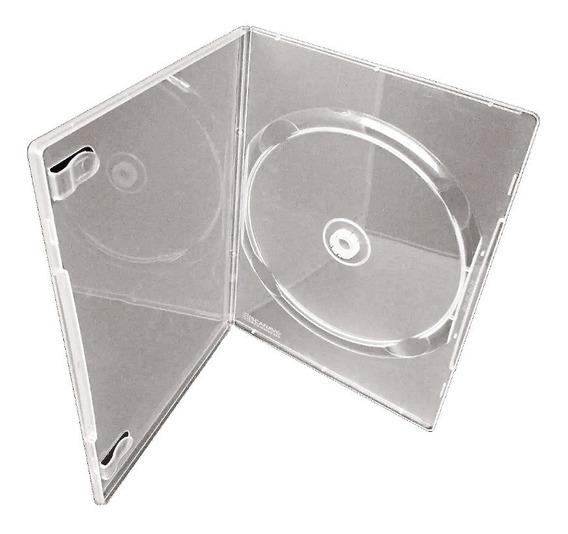 Box Dvd 50 Capinhas Slin Capa Dvd Transparente Resistente